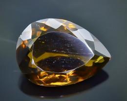 10.61 Crt  Conic Quartz Faceted Gemstone (Rk-77)