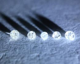 0.02ct 5 x i1-pique single cut diamonds