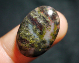 14.75 CT UNTREATED Beautiful Indonesian Moss Agate Picture