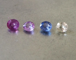 2.5ct unheated mixed colours sapphires