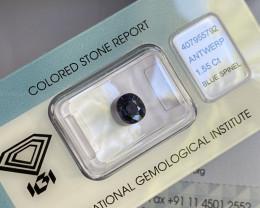 Violet-Blue Spinel 1.55ct IGI Certified UNTREATED Oval Cut Loose Gemstone