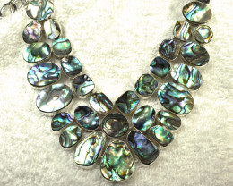 416.0 Carat Abalone, Sterling Silver Necklace - Gorgeous