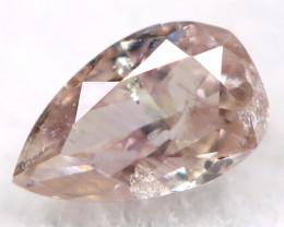 Peach Pink Diamond 3.5mm Natural Untreated Fancy Diamond AT0811
