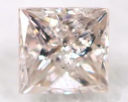 Peach Pink Diamond 2.5mm Natural Untreated Fancy Diamond AT0812