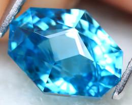 Blue Zircon 2.84Ct VVS Master Cut Natural Cambodian Blue Zircon A1310