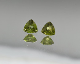 Natural Peridot Matched Pair 1.21 Cts, Pakistan