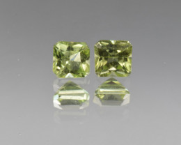 Natural Peridot Matched Pair 1.39  Cts, Pakistan