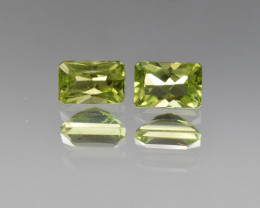 Natural Peridot Matched Pair 1.44  Cts, Pakistan