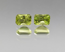 Natural Peridot Matched Pair 1.50 Cts, Pakistan
