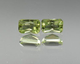 Natural Peridot Matched Pair1.54 Cts, Pakistan