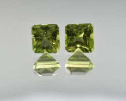 Natural Peridot Matched Pair 1.76 Cts, Pakistan