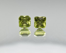 Natural Peridot Matched Pair 1.78 Cts, Pakistan