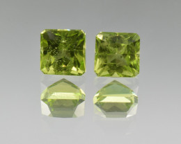 Natural Peridot Matched Pair 2.01 Cts, Pakistan