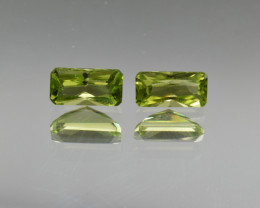 Natural Peridot Matched Pair 2.07 Cts, Pakistan