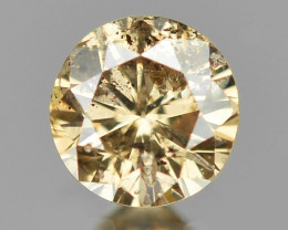 0.11 Cts Untreated Fancy Champagne  Color Natural Loose Diamond