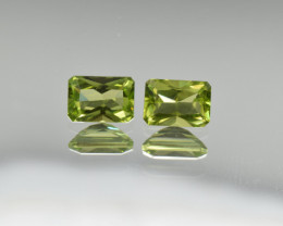 Natural Peridot Matched Pair 2.08 Cts, Pakistan