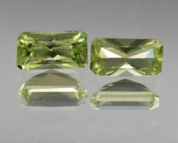 Natural Peridot Matched Pair 2.10 Cts, Pakistan