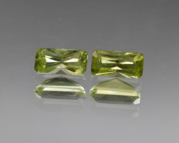 Natural Peridot Matched Pair 2.22 Cts, Pakistan