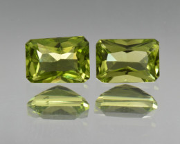 Natural Peridot Matched Pair 2.25 Cts, Pakistan