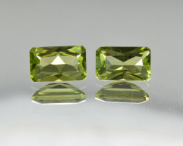 Natural Peridot Matched Pair 2.33 Cts, Pakistan