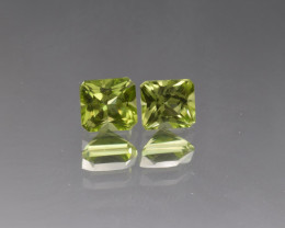 Natural Peridot Matched Pair 2.43 Cts, Pakistan