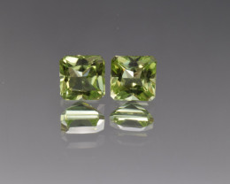 Natural Peridot Matched Pair 2.60 Cts, Pakistan