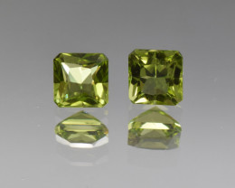 Natural Peridot Matched Pair 2.62 Cts, Pakistan