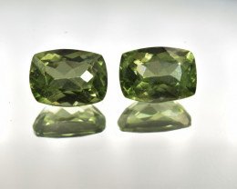 Natural Peridot Matched Pair 3.07 Cts, Pakistan
