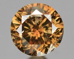 0.12 Sparkling Rare Fancy Brown Color Natural Loose Diamond