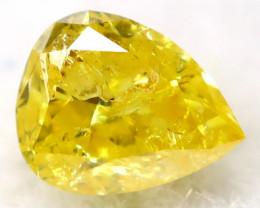 Yellow Diamond 2.7mm Natural Untreated Fancy Diamond AT0820
