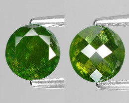 1.08Cts Round 6x3 Rose Cut Green Color Natural Loose Diamond