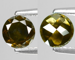 0.61Cts Round 5x2 Rose Cut Green Color Natural Loose Diamond
