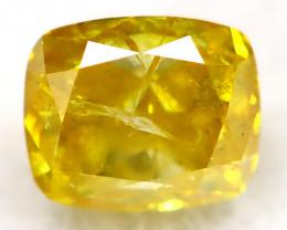 Intense Yellow Diamond 0.17Ct Natural Untreated Fancy Diamond AT0827