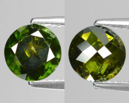 *No Reserve* 1.22Cts Round 7x3 Rose Cut Green Color Natural Diamond