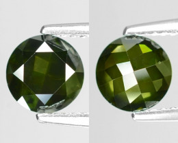 1.10Cts Round 6x3 Rose Cut Green Color Natural Loose Diamond