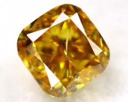 Greenish Orange Diamond 0.18Ct Natural Untreated Fancy Diamond AT0836