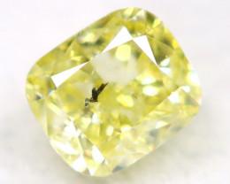 Light Yellow Diamond 0.19Ct Natural Untreated Fancy Diamond AT0838