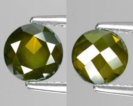 Rose Cut Green Diamond 1.35Cts Round 6x3 Natural Loose