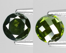 0.67Cts Round 5x2 Rose Cut Green Color Natural Loose Diamond