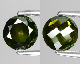 1.17Cts Round 7x3 Rose Cut Green Color Natural Loose Diamond