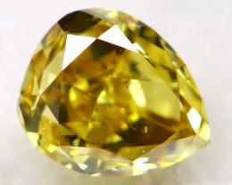 Greenish Yellow Diamond 0.13Ct Natural Untreated Fancy Diamond AT0886