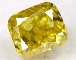 Greenish Yellow Diamond 0.19Ct Natural Untreated Fancy Diamond AT0889