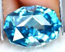2.70Ct VVS Master Cut Natural Ratthanakiri Blue Zircon AT0865