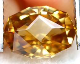 Yellow Zircon 2.31Ct VVS Master Cut Natural Yellow Zircon AT0866