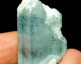 Amazing Natural color gemmy quality Aquamarine crystal 60Cts-P