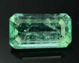 Top Clarity 1.90 ct Light Green Color Emerald~Panjsher Afghanistan