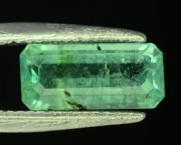 Top Clarity 2.55 ct Light Green Color Emerald~Panjsher Afghanistan