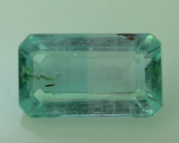 Top Clarity 2.45 ct Light Green Color Emerald~Panjsher Afghanistan