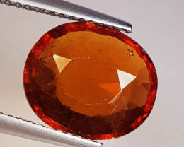 4.51 ct AAA Grade Gem Beautiful Oval Cut Natural Hessonite Garnet