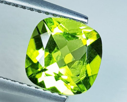 2.17 ct  Top Quality Gem  Cushion Cut Top Luster Natural Peridot